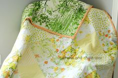 "i call it ""lemonade stand"" and it's a perfect summer picnic quilt. Old Sheets, Vintage Sheets, Vintage Quilts, Quilting Tips, Quilting Projects, Sewing Projects, Baby Girl Quilts, Girls Quilts, Cheap Quilts"