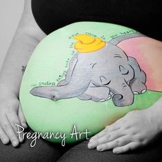 Dumbo bump art by cassandra stephens at - Painting Maternity Pictures, Baby Pictures, Pregnancy Pictures, Fall Carnival, Carnival Ideas, Bump Painting, Pregnant Belly Painting, Belly Art, Belly Casting