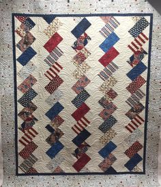 jellyroll quilts Finish It Up Friday ~ Quilts of Valor KatyQuilts Jellyroll Quilts, Scrappy Quilts, Easy Quilts, Small Quilts, Flag Quilt, Patriotic Quilts, Quilt Blocks, Quilt Baby, Strip Quilts