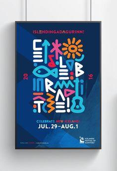 Icelandic Festival of Manitoba Honest Agency - Icelandic Festival of Manitoba Event Poster Design, Graphic Design Posters, Graphic Design Inspiration, Flyer Design, Typography Design, Event Posters, Poster Designs, Movie Posters, City Branding