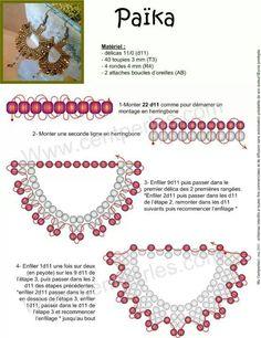 Схемы: Схема простых, но эффектных сережек
