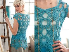 (from Vogue Knitting Crochet I love this.May have to try to remember how to crochet! Crochet Woman, Knit Or Crochet, Learn To Crochet, Crochet Hooks, Vogue Knitting, Crochet Designs, Crochet Patterns, Diy Fashion, Ideias Fashion