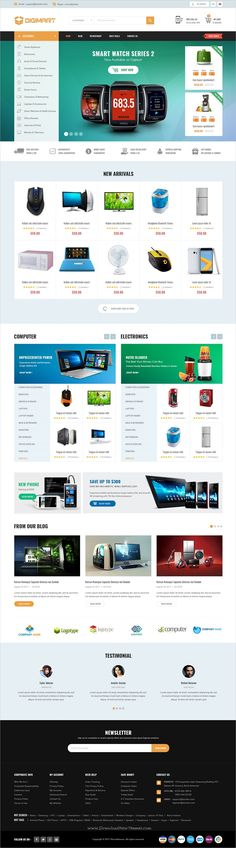 Dgimart is clean and modern design #PSD template for #webdev stunning #eCommerce website with 4 homepage layouts and 26 layered PSD files download now➩ https://themeforest.net/item/digimart-ecommerce-psd-template/19846034?ref=Datasata