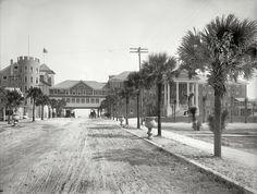 "Shorpy Historical Photo Archive :: Daytona Beach circa 1905. ""The Clarendon Hotel -- Seabreeze, Florida."" 8x10 inch dry plate glass negative, Detroit Publishing Company."
