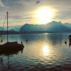 Nice evening mood on the #lakethun