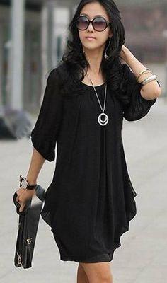 Free-Shipping-Hot-Sale-Ladies-Chiffon-dress-Women-...-3-colors