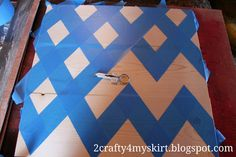 How to measure and tape a chevron patters