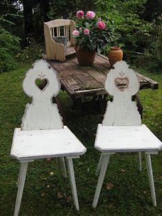 """antike Bauernstühle - """"neu patiniert"""""""