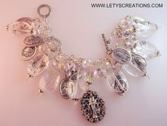 """""""Radiance"""" Catholic Virgin Mary Miraculous Medal Religious Medals Charm Bracelet 