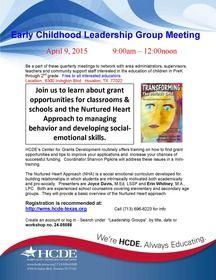 Early Childhood Leadership Group Meeting