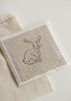 Linen bunny cards :)