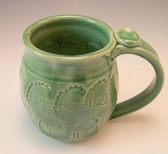 Large Pottery Mug Handmade Pottery Mug.Large by AnneMariesPottery