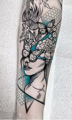 wildflower girl for michelle. Small Forearm Tattoos, Small Tattoos, Cool Tattoos, Finger Tattoos, Body Art Tattoos, Tattoos Masculinas, Sleeve Tattoos For Women, Tattoos For Guys, Family Sleeve Tattoo