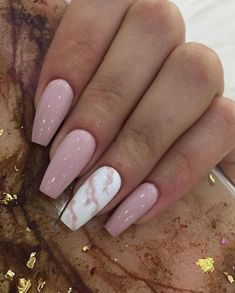 GORGEOUS MARBLE NAILS ART DESIGNS 2019 Seeing enough fresh flower patterns, and I don't want to repeat the elegance of French manicure. Today I recommend a unique and temperamental nail art – marble manicure. Acrylic Nails Coffin Short, Summer Acrylic Nails, Best Acrylic Nails, Coffin Nails, French Manicure Acrylic Nails, Simple Acrylic Nails, 3d Nails, Cute Nails, Pretty Nails