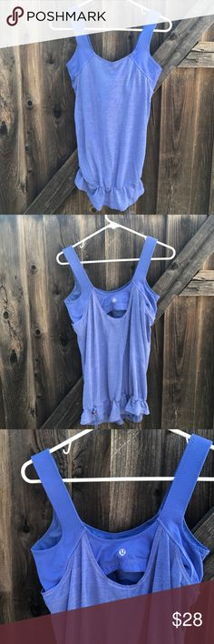 Lululemon Women's Tank Top Lululemon women work out tank top Built in sports bra Size 8 No stains or rips like new Length from shoulder 26 Armpit to armpit 15 L20 lululemon athletica Tops Tank Tops