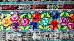 Embroidery detail from a handwoven Guatemalan textile. #embroidery #guatemala #textile