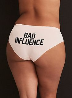 d274dd529fa Plus Size Light Pink  Bad Influence  Seamless Hipster Panty