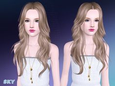 femala adult hair  Found in TSR Category 'Female Sims 3 Hairstyles'