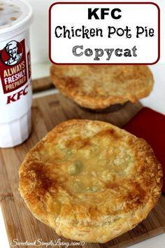 Fast Food Places, Chicken Recipes, Copycat Kfc Chicken Pot Pie Recipe, Chicken Pot Pies, Baked Chicken, Ham Pot Pie, Chicken Pot Pie Crust, Chicken Pot Pie Casserole, Hamburger Casserole