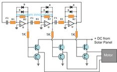 The post explains a simple 3 phase solar submersible pump inverter circuit which can be made by configuring a few ICs and a few power devices. Ac Circuit, Circuit Diagram, Electronic Circuit Design, Electronic Engineering, Solar Projects, Circuit Projects, Hobby Electronics, Electronics Projects, Automobile