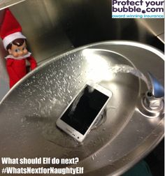 Our naughty elf is at it again! That explains why the phone wasn't working this morning.   #pybusa #whatsnextfornaughtyelf #protectyourbubble