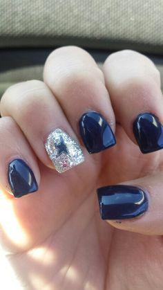 Dallas cowboys nails! ♡