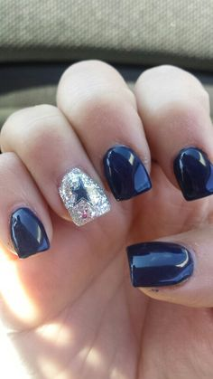 Dallas cowboys nails! ♡