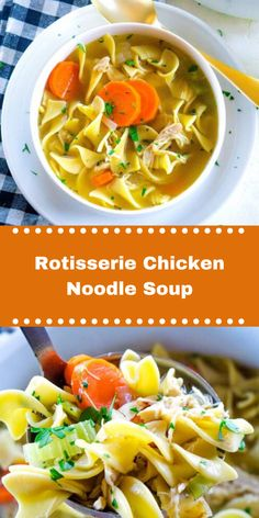 Chicken Noodle Soup Rotisserie, Quick Chicken Noodle Soup, Easy Chicken And Noodles, Recipes Using Rotisserie Chicken, Stew Chicken Recipe, Chicken Noodle Recipes, Healthy Chicken Recipes, Savarin, Easy Soup Recipes