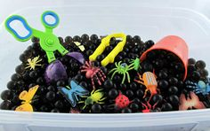 Bug Sensory Bin Duo with Water Beads and Green Jelly Goo- All Inclusive 2 in 1…