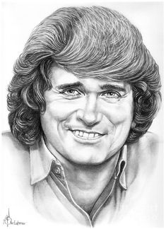 Michael Landon by Murphy Elliott ~ traditional pencil art Face Sketch, Drawing Sketches, Art Drawings, Michael Landon, Celebrity Drawings, Celebrity Portraits, Old Man Pictures, Graphite Art, Realistic Pencil Drawings
