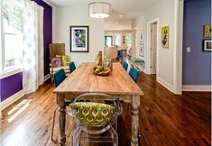 18 Ways to Incorporate Jewel Tones in Your Home, According to Kortney Wilson Kortney Wilson, Dining Area, Dining Table, Dining Rooms, Masters Of Flip, Interior Decorating, Interior Design, Decorating Ideas, Pink Room
