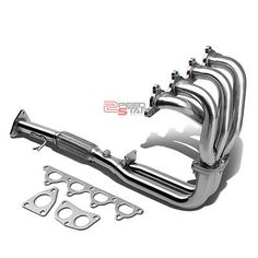 1992-1996 HONDA PRELUDE SI BB2 DOHC H23A1 STAINLESS STEEL EXHAUST RACE HEADER