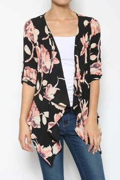 American Fit - Floral Cardigan, Plus Size