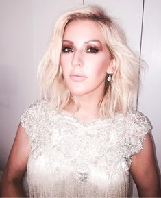 """""""The final look revealed on the gorgeous Ellie Goulding—she wears a dialled up Dolce Vita look with Penelope Pink Kissing lipstick and face contour using Filmstar Bronze & Glow. Ellie Goulding Hair, Hair Game, Dream Hair, Bad Hair, Charlotte Tilbury, Cut And Color, Hair Inspo, Wedding Makeup, Pretty People"""