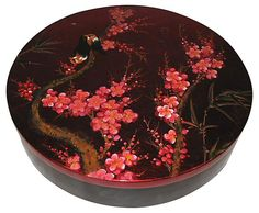One Kings Lane - Eastern Influence - Lacquer Box w/ Bird