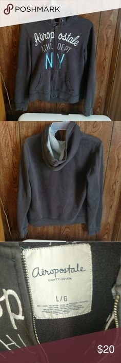 Aeropostale grey hoodie Re-posh bought and don't fit. Beautiful grey hoodie Aeropostale Jackets & Coats