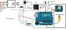 GSM Pump Motor Controller Circuit using Arduino