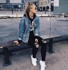 american eagle Jean Jacket Source by outfits for sc Tomboy Fashion american eagle Jacket jean Outfits Source teenager Teen Fashion Winter, Teen Fashion Outfits, Tomboy Fashion, Fashion Mode, Mode Outfits, Outfits For Teens, Trendy Outfits, Fashion Fall, Casual Tomboy Outfits