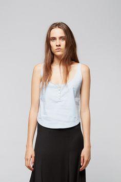 Rachel Comey Friday Cropped Tank | Apiece Apart Olatz Circle Skirt | Dieppa Restrepo Leon Loafer - Black | My Chameleon