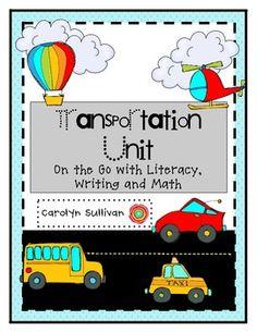 Transportation Unit: On Th Go kinder/1st grade