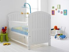 Baby cot design white simply elegant white wall colour