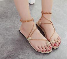 Summer Sweet Flat Pinch Fashion Sandal