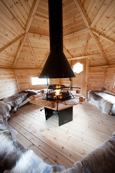 Lots of room inside an Arctic Cabins™ BBQ hut!