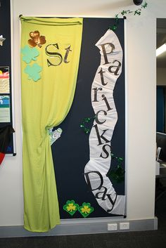 St. Patrick's Day library bulletin board display