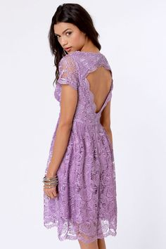 Pretty Lavender Dress - Lace Dress - Backless Dress - this will 100% be my Easter dress!
