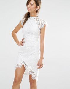Bild 1 von Boohoo Boutique – Figurbetontes Kleid mit Wimpernspitze