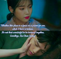 She doesn't want him to share her pain. That's why she left without a word with him. That's LOVE 💟😘😘💑💑 Episode 8 Love In The Moonlight Kdrama, K Quotes, Korean Drama Quotes, Jin Goo, Thai Drama, Korean Dramas, English Quotes, Jealousy, Teaser