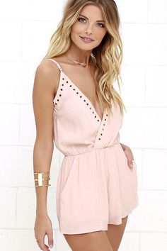 Second Look Blush Pink Romper at Lulus.com!  Size XS