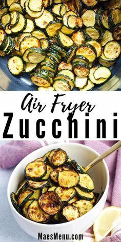 Air Fryer Oven Recipes, Air Frier Recipes, Air Fryer Dinner Recipes, Appetizer Recipes, Snack Recipes, Appetizers, Zuchinni Recipes, Vegetable Recipes, Zucchini Dinner Recipes