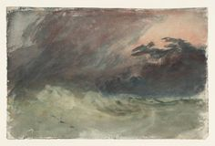 Study for 'Eddystone Lighthouse', Joseph Mallord William Turner, Turner Watercolors, Joseph Williams, Watercolor Sketchbook, Watercolour Painting, Joseph Mallord William Turner, English Artists, Old Master, Light In The Dark, Lighthouse
